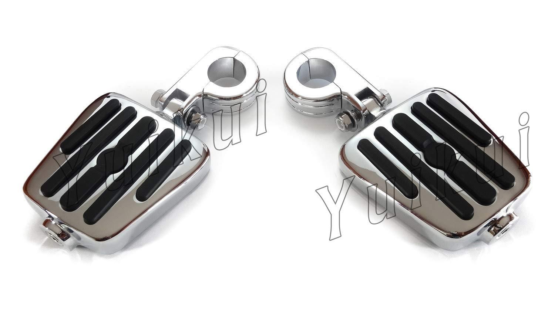 YUIKUI RACING オートバイ汎用 1-1/4インチ/32mmエンジンガードのパイプ径に対応 ハイウェイフットペグ タンデムペグ ステップ SUZUKI LS 650 SAVAGE/BOULEVARD S40 All years等適用   B07PQR8GH9