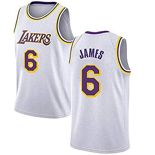Camiseta De Baloncesto para Hombre - NBA Los Angeles Lakers # 6 ...