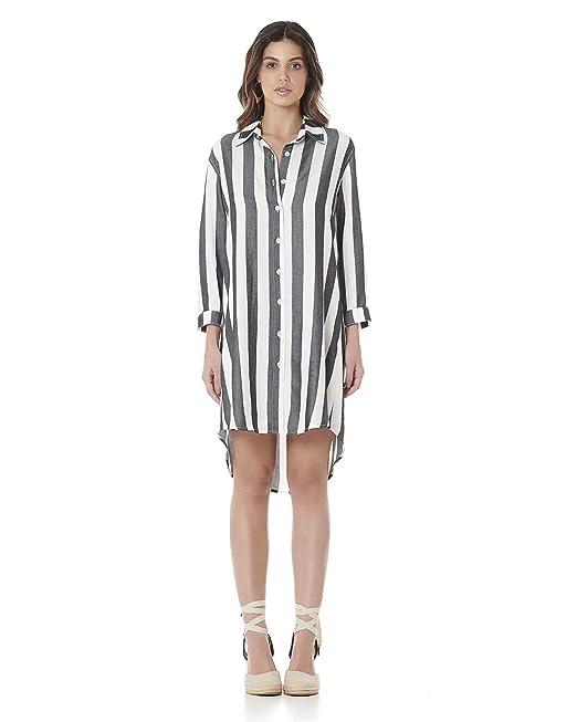 Vestido Tipo Camisa G Amazoncombr Amazon Moda