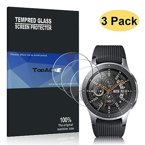 TopACE Protecteur écran pour Samsung Galaxy Watch 46 mm,[3 pièces] 9H Tempered