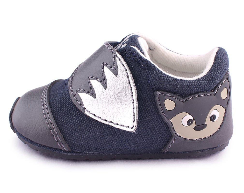 cartoonimals Baby Shoes Prewalker New Born Cribs Shoes Foxz Navy US 3 Infant