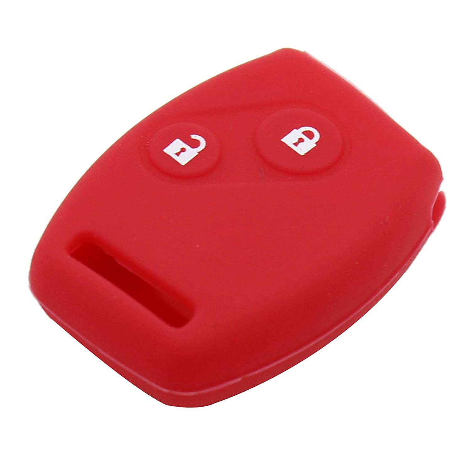 red Heart Horse 2 Button Remote Car Key Fob Silicone Case Shell Cover Compatible with Honda Accord Civic CRV Pilot Replacement