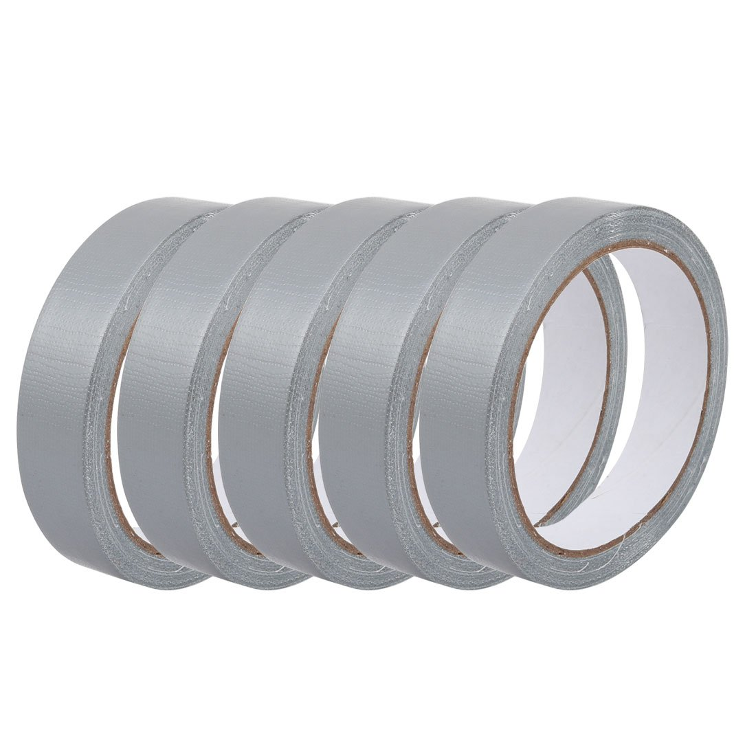 uxcell 5Pcs Gray Single Sided Safety Marking Carpet Tape 0.8 Inch x 11 Yards
