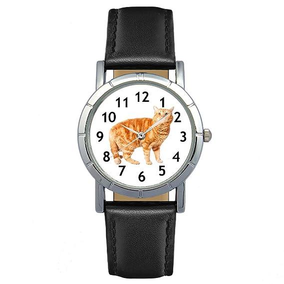 Selkirk Rex Gato - Reloj para mujer con correa de cuero: Timest: Amazon.es: Relojes