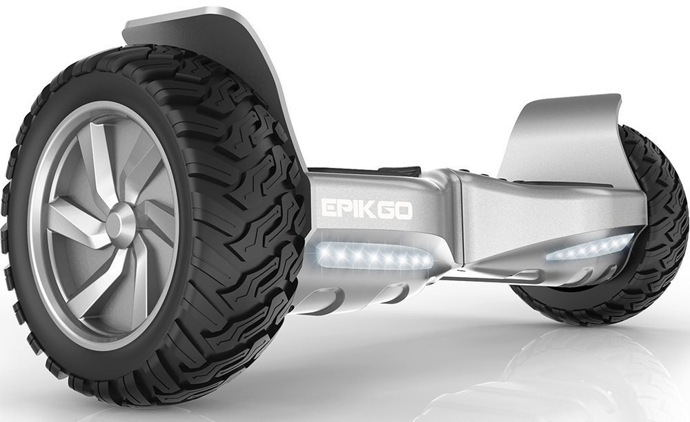 "EPIKGO Self Balancing Scooter Hover Self-Balance Board - UL2272 Certified, All-Terrain 8.5"" Alloy Wheel, 400W Dual-Motor, LG Battery, Board Hover Tough Road Condition [Classic Series Elite Silver] by EPIKGO"