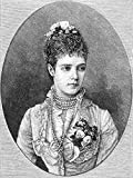 Maria Fyodorovna N(1847-1928) NE Marie Sophie Frederikke Dagmar Princess Of Denmark Wife Of Tsar Alexander Iii Wood Engraving 1883 Poster Print by (24 x 36)