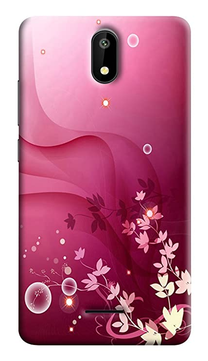 online store 0ac19 c6eb0 RKMOBILES Back Cover for Micromax Q409 Spark (Pink)