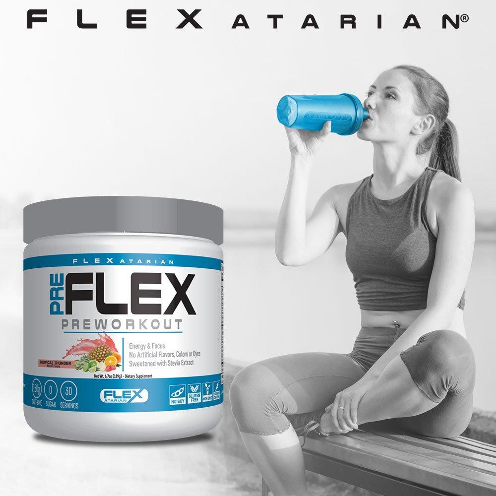 Flexatarian Pre-Flex, All-Natural Preworkout Formula, Tropical Thunder, 30 Servings by Flexatarian (Image #5)