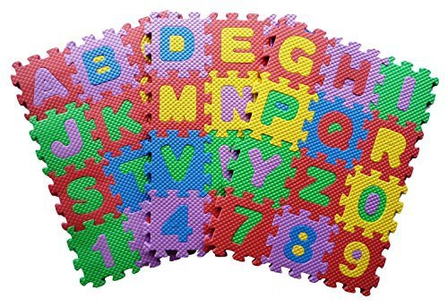 Teach Kids to Learn ABC Alphabet English Jigsaw Puzzle Mat Toy Kids Boys Girls Nursery Class - Small Size 7x7 cm.