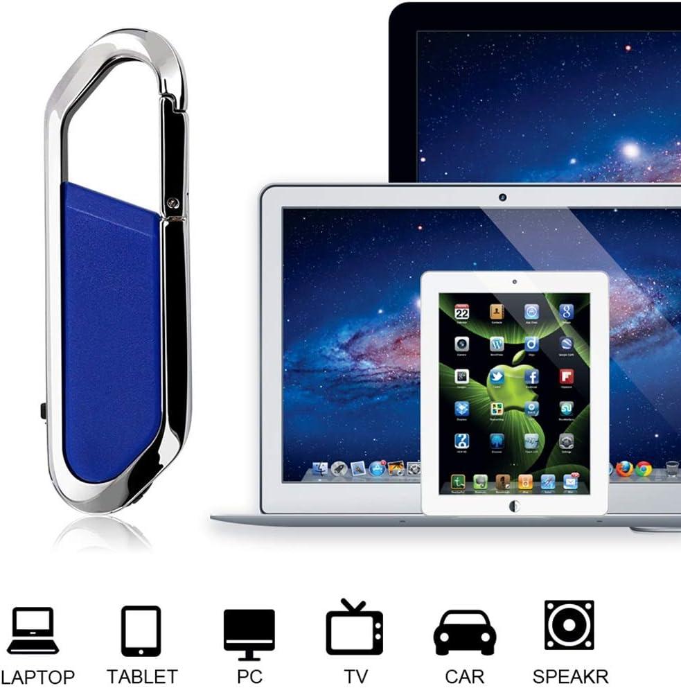 Black Color : Blue External Storage USB Flash Drives 64GB USB 2.0 Creative Carabiner Metal USB Flash Drives U Disk USB Flash Drives