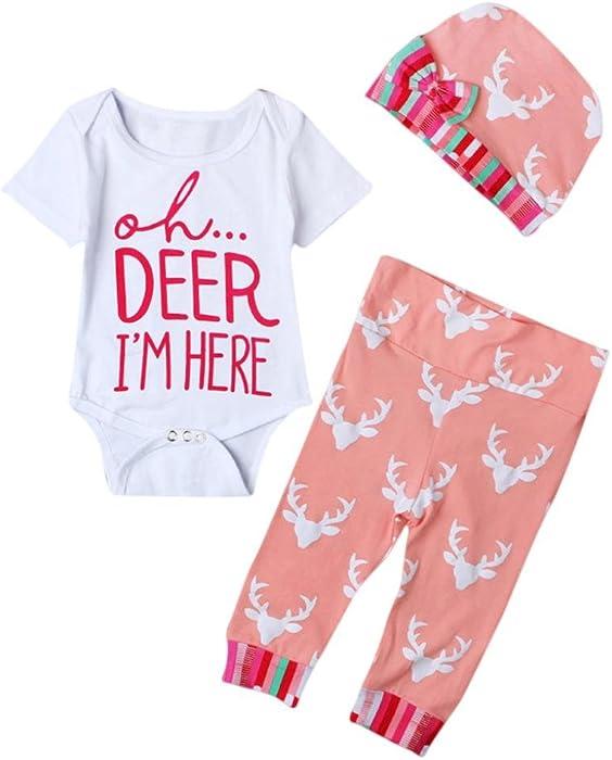 ec0412935 Amazon.com  Kehen Newborn Infant Baby Girl Summer Clothes Casual ...