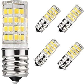 E17 - Bombilla LED para horno microondas (4 W, luz blanca diurna ...