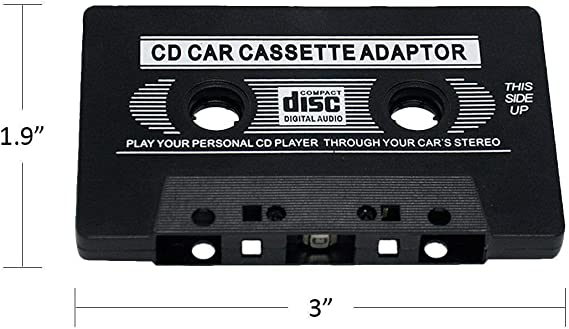 3.5mm Universal Audio Cable Tape Adapter for Classic Cars Compatible with CD// MP3// Smartphones MIUONO Car Cassette Aux Adapter