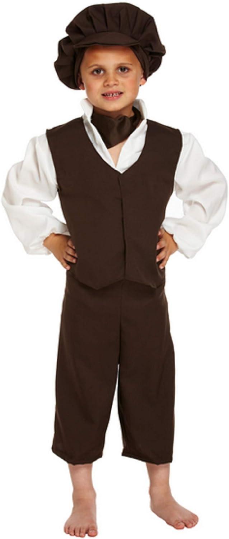 KIDS VICTORIAN POOR PEASANT BOY OLIVER TWIST URCHIN COSTUME BOOK DAY FANCY DRESS