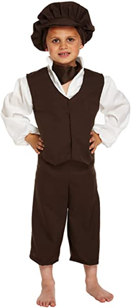 Boys Victorian Poor Urchin Boy World Book Day Fancy Dress Costume 4-12 Smiffy/'s