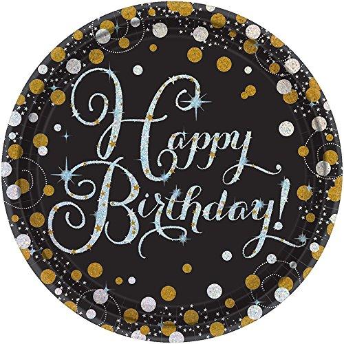7 Prismatic Plate - Amscan 541873 Sparkling Celebration Round Prismatic Plates Party Supplies, 7