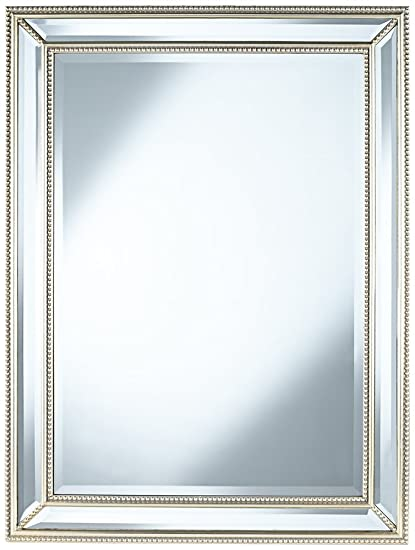 40 x 40 mirror slim frame uttermost palais beaded 30quot 40quot silver wall mirror amazoncom 30