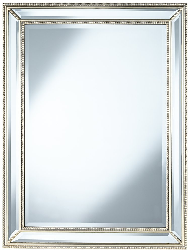 Uttermost Palais Beaded 30'' x 40'' Silver Wall Mirror