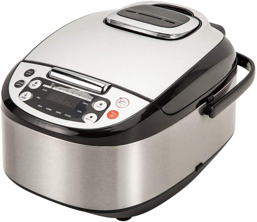 Robot de Cocina Multifunción con Voz, Programable 24 horas, Capacidad de 5 Litros (10 Comensales). 4 Menús Preconfigurados, 8 Programas Automáticos y Calentamiento Envolvente Max. 180ºC