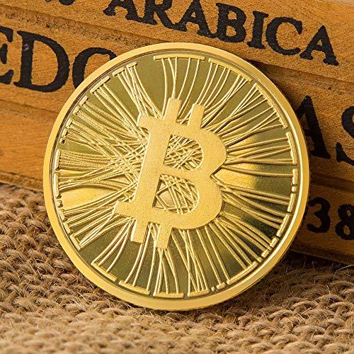 Peyan Bitcoin (BTC) Coin,Line Embossed 3D Print,Commemorative Coin Celebrate The Bitcoin Lightning Network,Novelty Coin Souvenir Coins,Gold