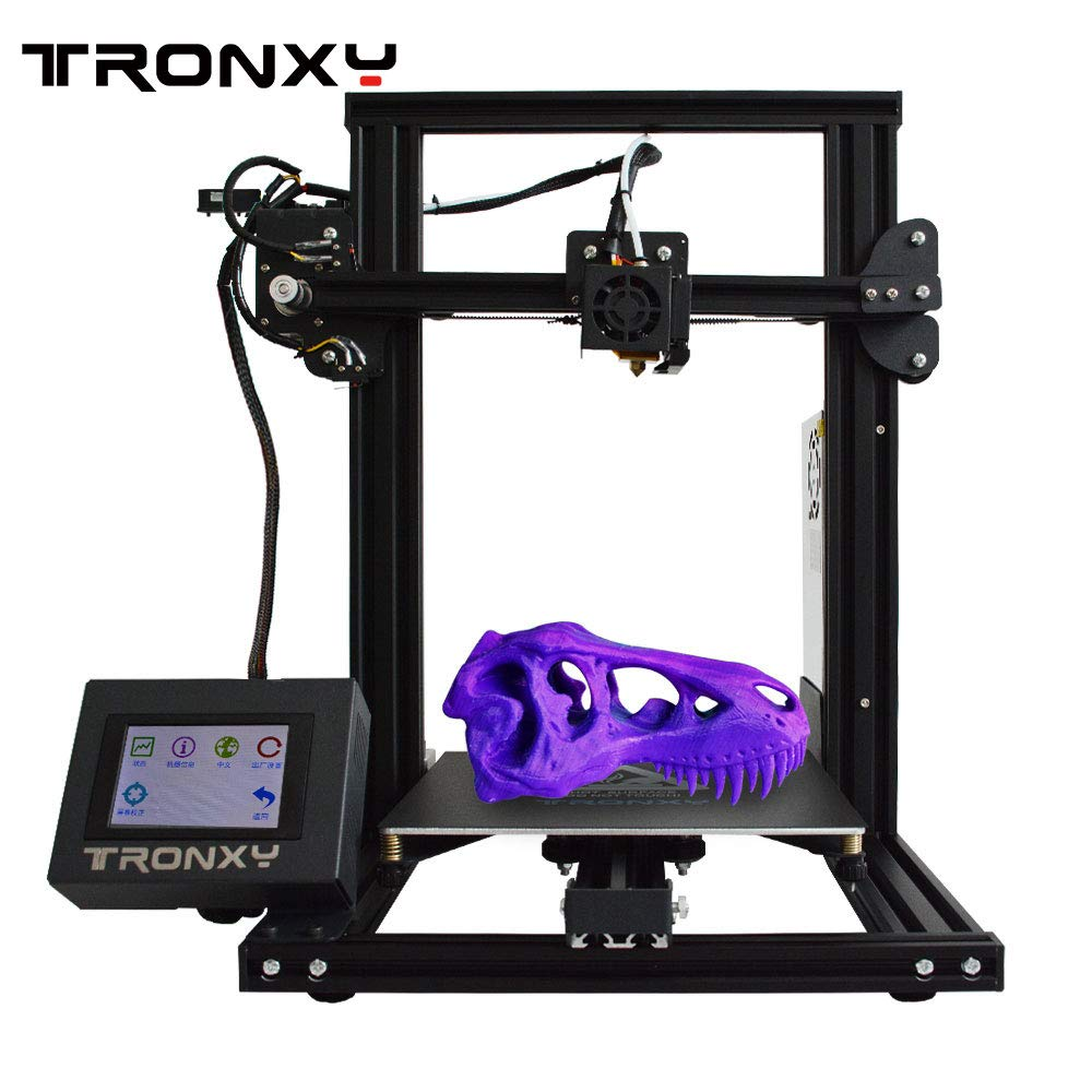 XY-2 3D Printer XY-2 Semi-Assembled Metal Frame Structure with Free Sample PLA Filament 8G SD Card Preloaded Printable 3D Models