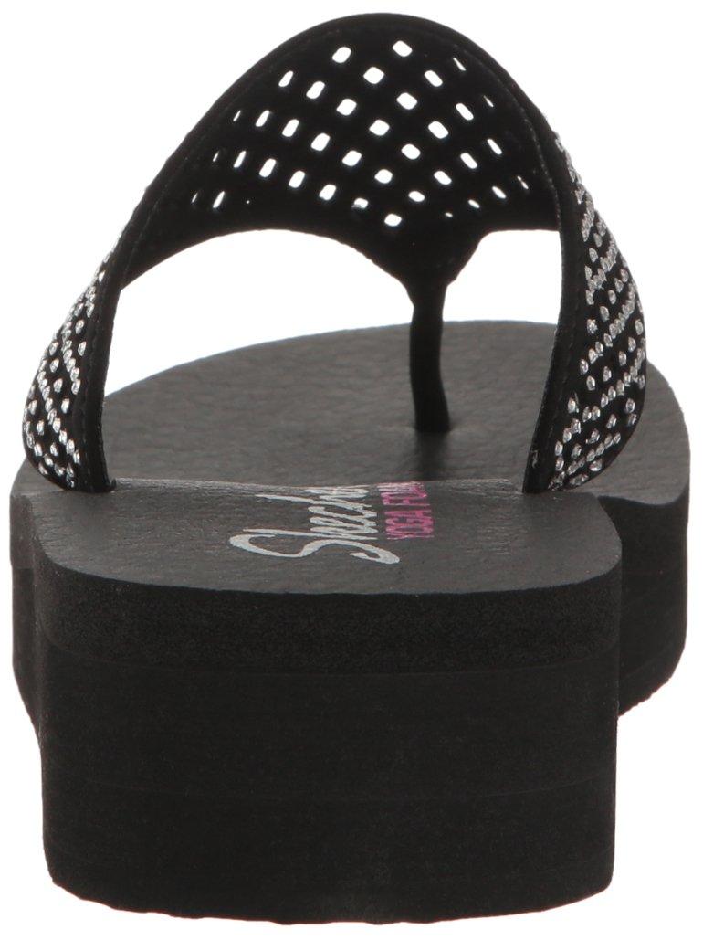 Skechers Cali Women's Vinyasa Flow Wedge Sandal, Black Cutout, 6 B(M) US by Skechers (Image #2)