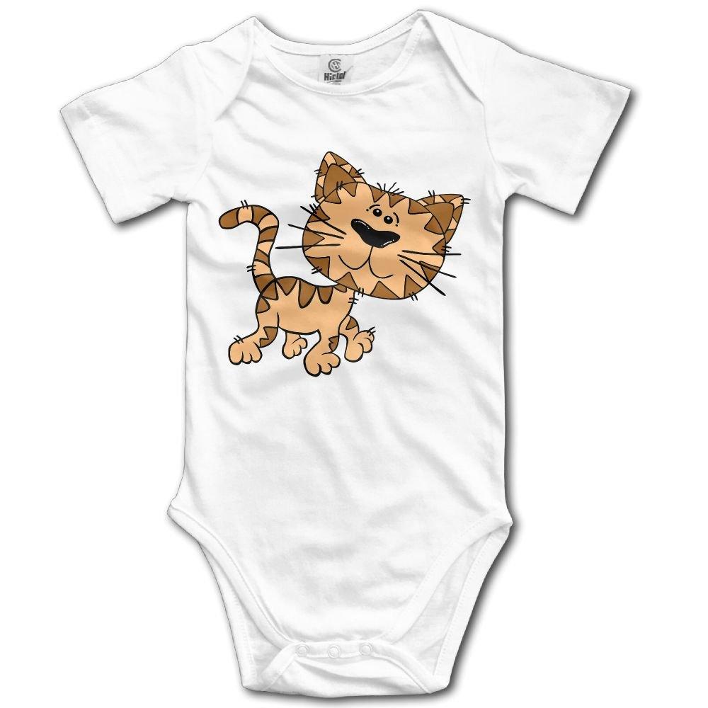 Jaylon Baby Climbing Clothes Romper Cartoon Tiger Cat Infant Playsuit Bodysuit Creeper Onesies White