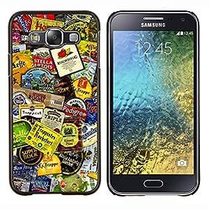EJOOY---Cubierta de la caja de protección para la piel dura ** Samsung Galaxy E5 E500 ** --Producto Diseño Etiquetas colorido Arte Moderno