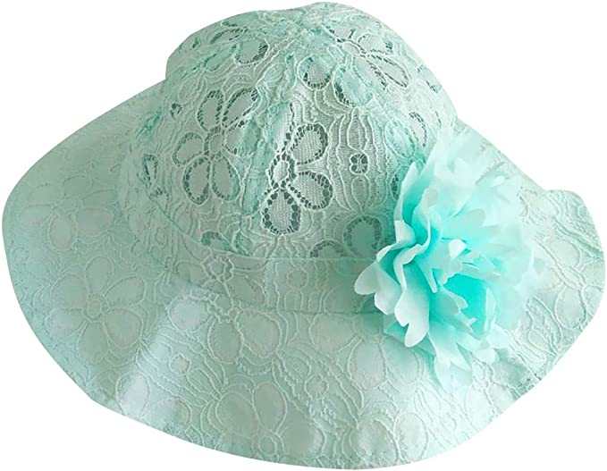 Infant Baby Girls Cotton Flower Princess Sun Cap Lovely Bowknot Bucket Hat Color : White+Yellow Flower Pattern