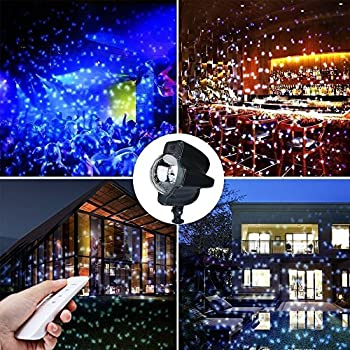 Amazon Com Christmas Led Snowfall Light Rotating Night