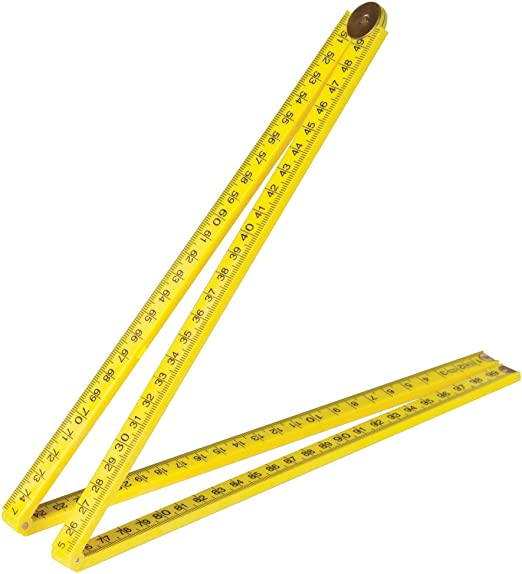 Draper 1m Plastic Folding Ruler Made From Tough Impact Resistant ABS Plastic