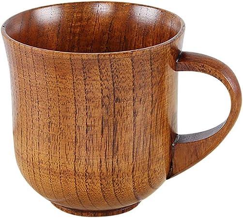 Hecha a mano madera taza de té taza de café Taza hecha a mano natural