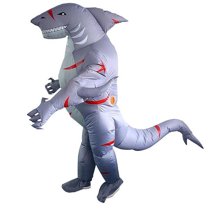 Amazon.com: Disfraz hinchable de tiburón de dinosaurio para ...