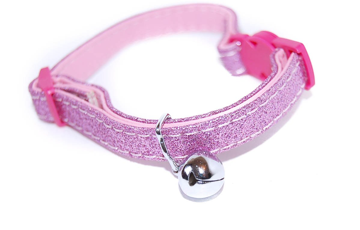 Pet Palace Glitter Collar For Cats Who Relish The Nightlife Perky Pink