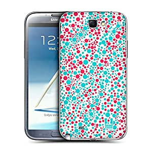 Head Case Designs Turquoise and Fuchsia Particle Patterns Replacement Battery Back Cover for Samsung Galaxy Note 2 II N7100