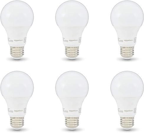 Amazonbasics 40w Equivalent Soft White Non Dimmable 10 000 Hour Lifetime A19 Led Light Bulb 6 Pack