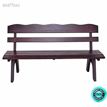 Swell Amazon Com Skemidex 5Ft 3 Seats Garden Bench Chair Wood Onthecornerstone Fun Painted Chair Ideas Images Onthecornerstoneorg