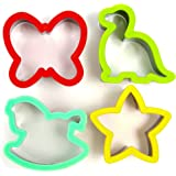 Sandwich Cutter for Kids - Best Stainless Steel Sandwich Cutter Set - 4 Bread Cutters Shapes for Kids Suitable for Cakes and Cookie