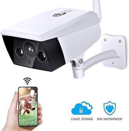 1080P C/ámara IP Inal/ámbrica con Sistema de Vigilancia para el Hogar C/ámara de Seguridad para Exteriores Detecci/ón de Movimiento de Visi/ón Nocturna IP66 a Prueba de Agua EU