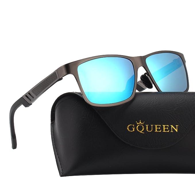 GQUEEN Los hombres Retro Bastidor Al-Mg Caminante gafas de sol polarizadas protección UV400 MS0