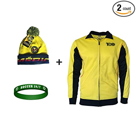 low priced 0334f 99c52 Icon Sport Club America Track Jacket Light Centenario Adults 100  Anniversary Adults Mens + Beanie