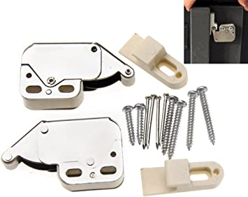 Mini Tip Catch Spring Loaded Cupboard Cabinet Door Push Touch Release Latch Lock