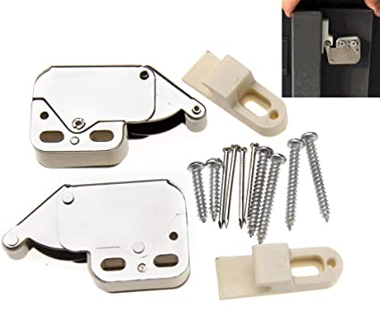 2pcs Push To Open Touch Release Lock Spring Loaded Mini Tip Latch