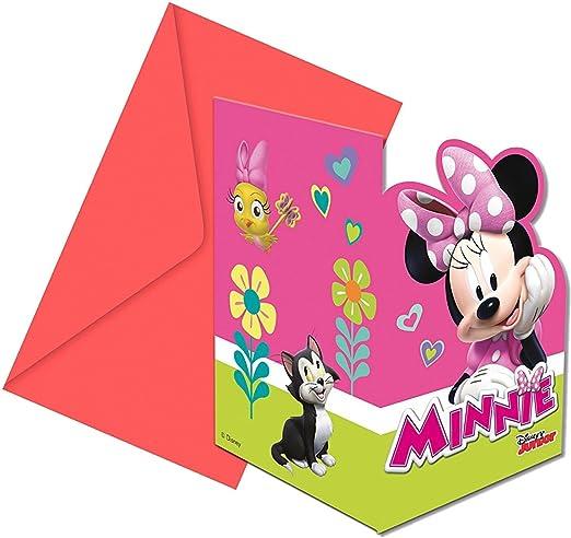 Juego De Tarjetas De Invitación De 12 Minnie Mouse