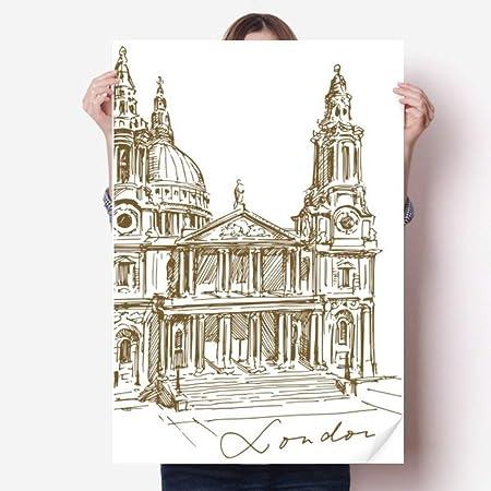DIYthinker 80X55Cm Wall St. Pauls Catedral Inglaterra ...