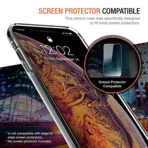 Trianium Clarium Case Designed for Apple iPhone Xs MAX Case (2018 6.5'' Display ONLY) Reinforced Corner TPU Cushion and Hybrid Rigid Clear Back Plate Protection Covers [Enhanced Hand Grip] - Clear by Trianium (Image #3)