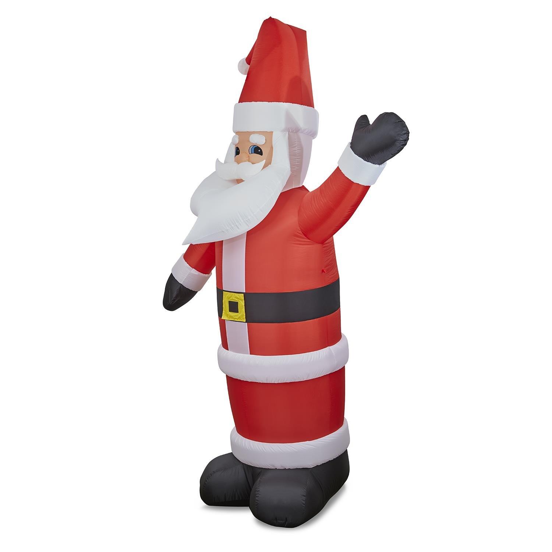 Oneconcept Santa XXL - Santa Claus Inflable , decoración navideña , iluminación navideña , Figura Enorme , 350 cm , iluminación LED , soplador ...