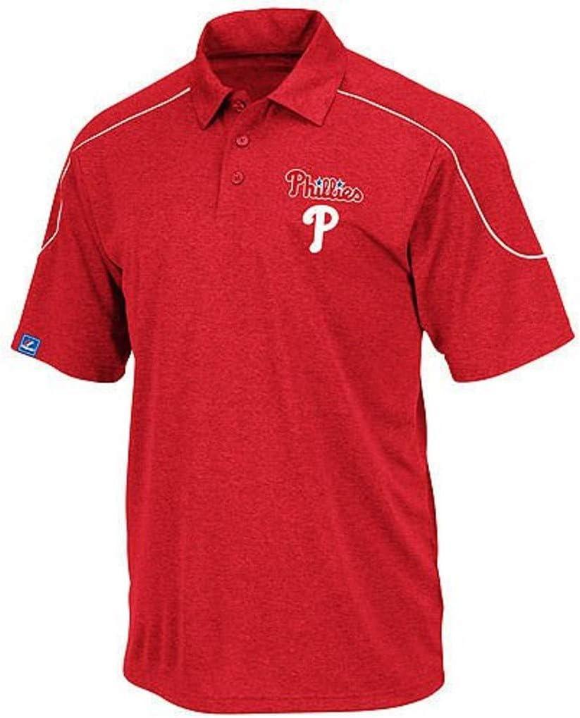 Majestic Philadelphia Phillies Run Down Synthetic Polo Shirt Big /& Tall Sizes