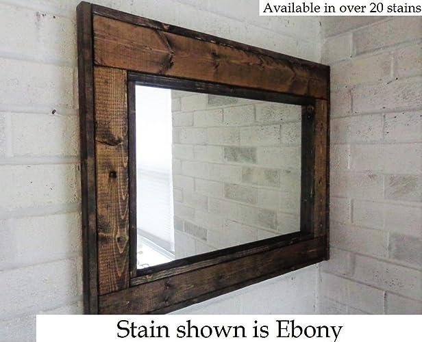 renewed dcor herringbone reclaimed wood mirror in 20 stain colors large wall mirror rustic