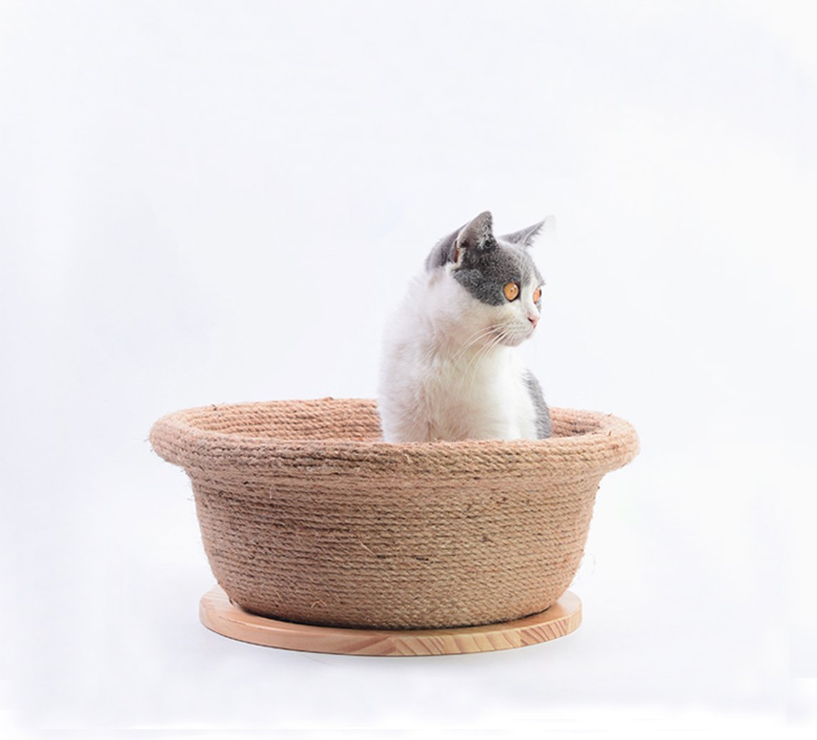 White CERBERUS Sisal Cat Scratch Board Cat Litter House Nest Grinding Claws Durable
